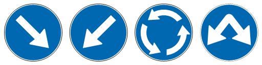 OBAVEZNO OBILAŽENjE (II-45) (II-45.1) (II-45.2) (II-45.3)